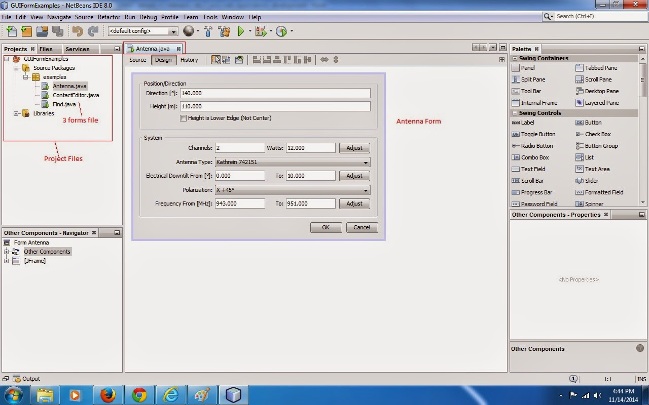 Java Class Examples, Applications Development Using Java, Java Sample Form  Application, How To