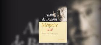 Mémoire vive, Alain de Benoist