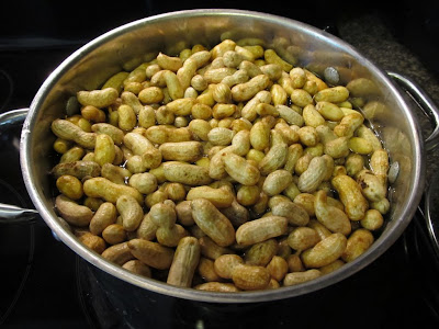 Boiled Peanuts in Large Pot