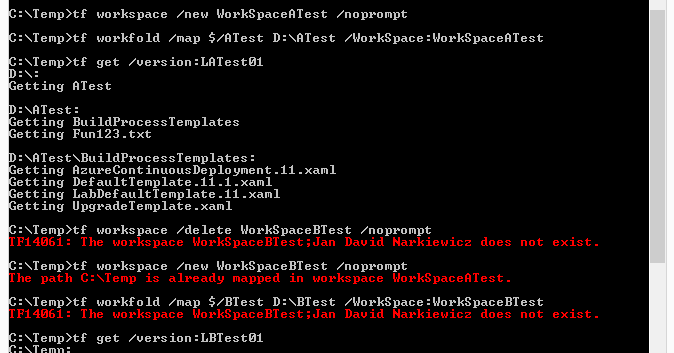 Tf Workspace Command