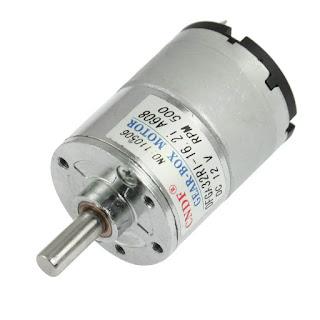 A geat box dc motor