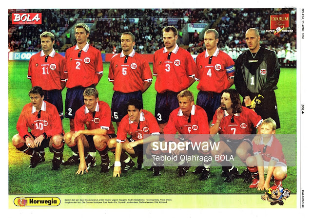 NORWAY FOOTBALL TEAM SQUAD 2000