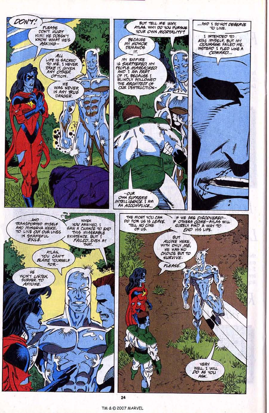 Read online Silver Surfer (1987) comic -  Issue #79 - 26