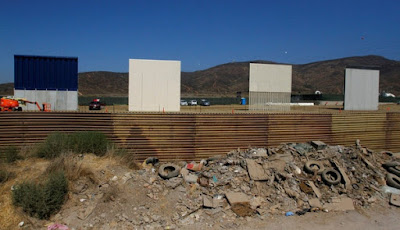 Donald Trump reveló los primeros prototipos del muro que construirá en la frontera con México