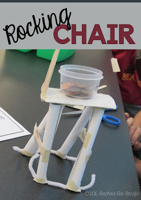 STEM Challenge Mystery Build: Each team builds something different. They must choose the materials needed for the task and stay within a budget! A rocking chair is one of the tasks! FREEBIE!