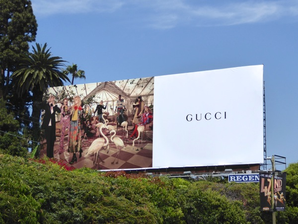 Gucci Summer 2016 fashion billboard