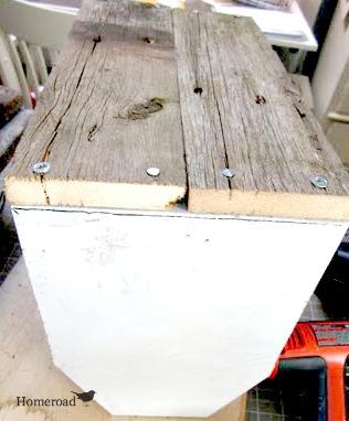 wooden scrap wood box