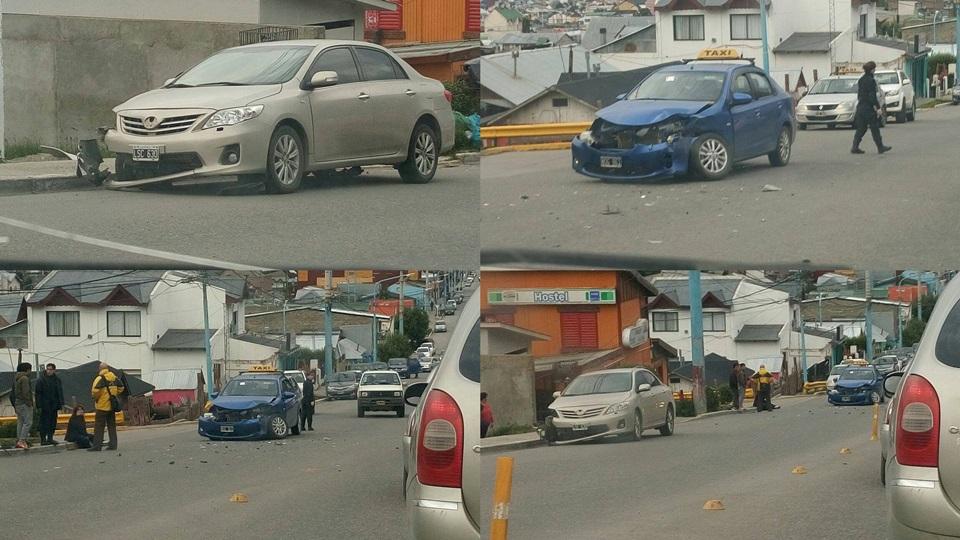 Choque en Magallanes y 25 de Mayo