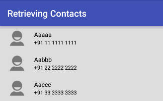 Retrieving a List of Contacts in Android Example | Sone Valley