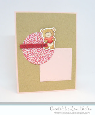 You Stole My Heart card-designed by Lori Tecler/Inking Aloud-stamps from Lil' Inker Designs