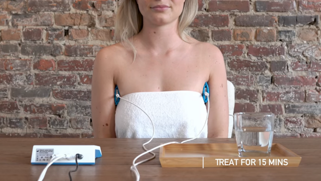 iontophoresis machine for underarms
