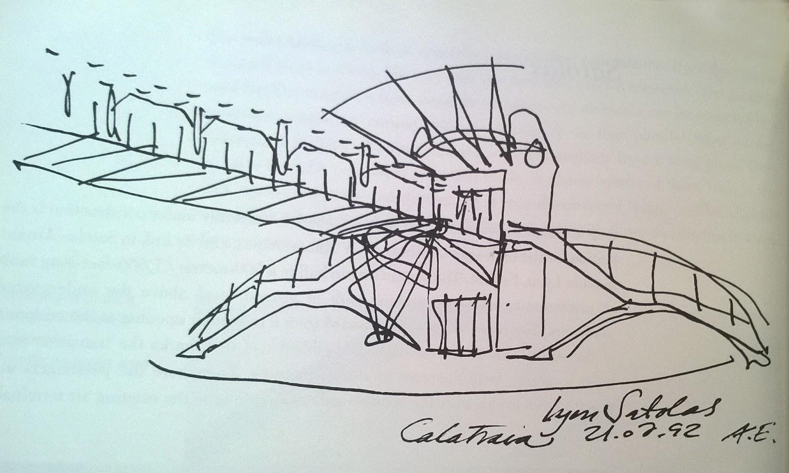 bản vẻ tay của kiến trúc sư calatrava