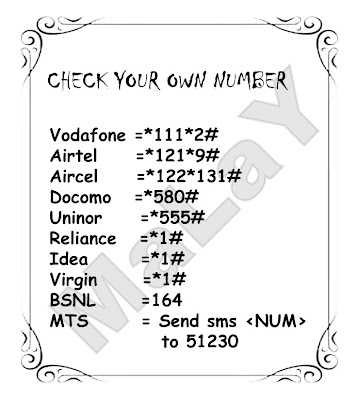 Check your own Number | Latest Mobile & Internet tips: