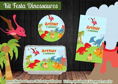 Kit Festa Dinossauros