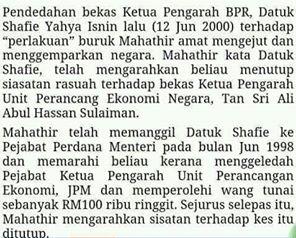 Wangi Mahathir Bau Macam Bangkai
