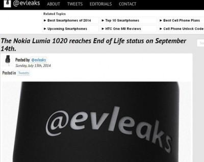 Nokia Lumia 1020 Akan Habis Siklus Hidupnya di September 2014?