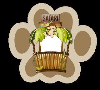 Toppers o Etiquetas de Safari Bebés para imprimir gratis.
