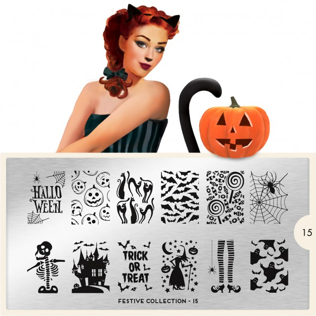 Lacquer Lockdown - Halloween, halloween nail art, halloween nail art stamping plates, nail art, nail art stamping ideas, holiday nail art, MoYou London, MYL, moyou, gothic plates, witches brew, pumpkins, spiderwebs