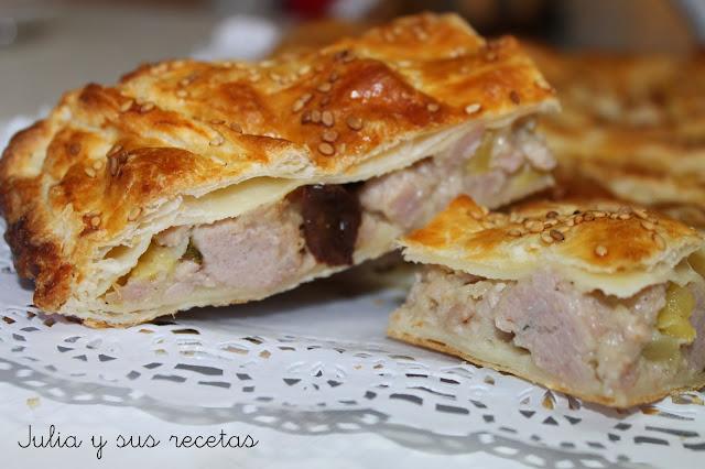 Empanada de pollo con manzana. Julia y sus recetas