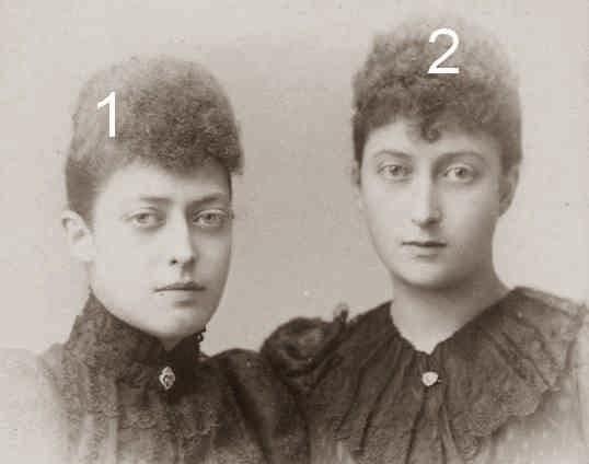 Victoria et Maud de Galles-Famille royale britannique- Famille royale de Norvège-Saxe-Cobourg-Gotha