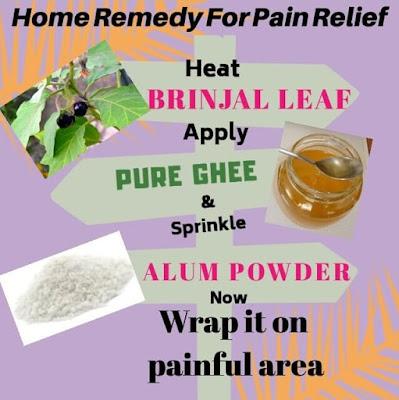 Home remedy for natural pain relief, gharelu nuskha chot ke dard ke liye
