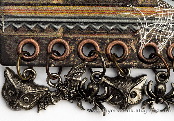 Layers of ink - Apothecary Wall Hanger  by Anna-Karin with Tim Holtz Halloween idea-ology