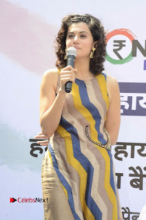 Actress Tapsee Panu Stills at Remonetise India Campaign in Chetna College Bandra West  0006.jpg