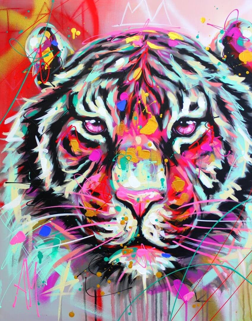01-Tiger-Andrea-Marqui-Bright-Paintings-of-Animal-Portraits-www-designstack-co