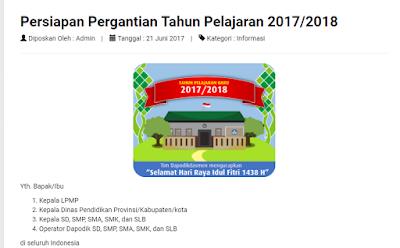 persiapan pergantian tahun ajaran baru 2017/2018