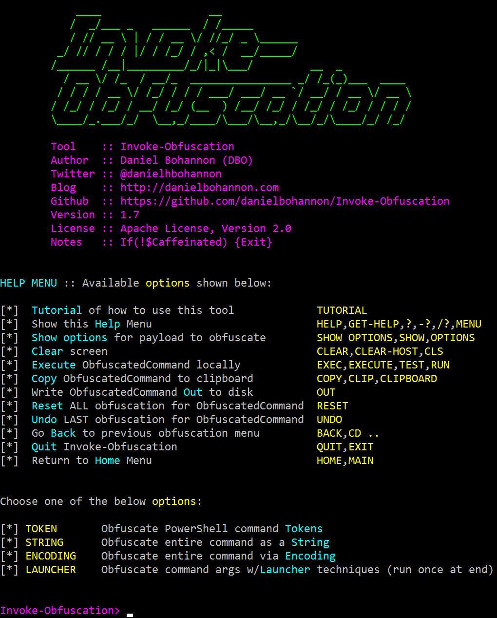 Invoke-Obfuscation - PowerShell Obfuscator