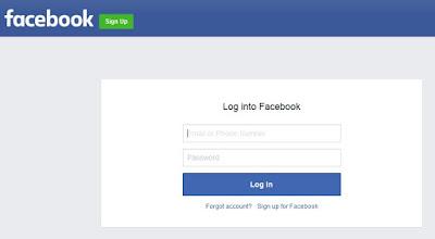 fb login page