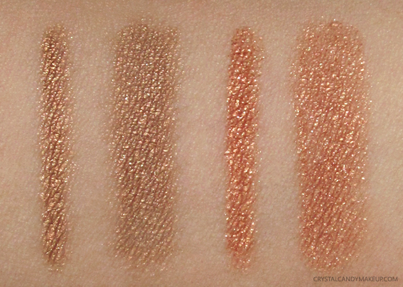 Clarins Sunkissed Summer 2017 Swatches Waterproof Eye Pencils 06 Gold 07 Copper