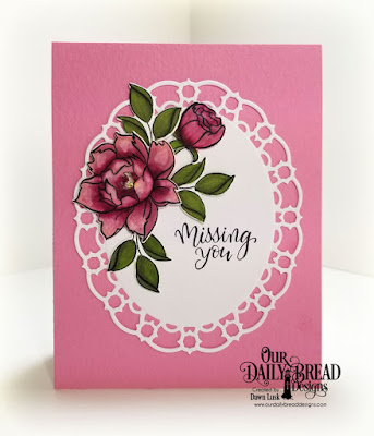 Our Daily Bread Designs Stamp/Die Duos: Hello Friend, Custom Dies: Layered Lacey Ovals