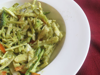 Creamy Vegan Coleslaw Dressed with Avocado