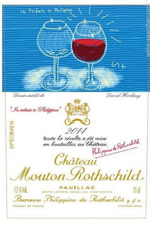 Chateau Mouton Rothschild label