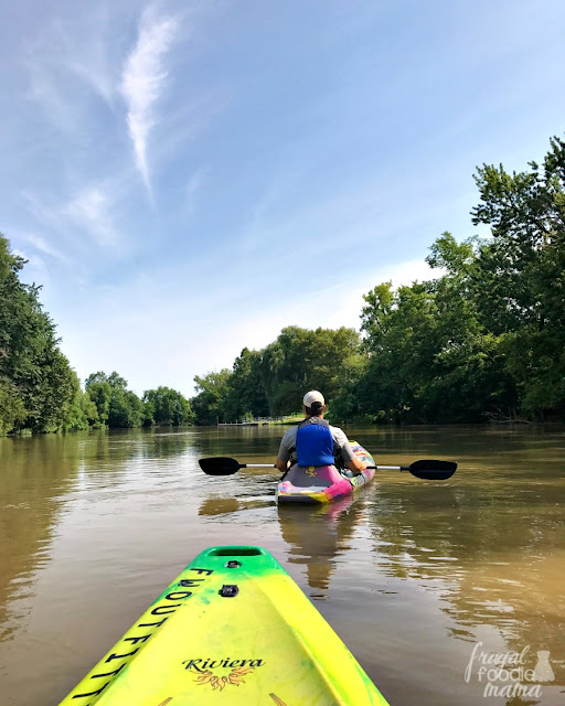 Fort Wayne Outfitters is located in an old train depot directly above the banks of the St. Marys River. Though they offer a wide variety of outdoor rentals, I can't recommend taking a kayak trip down the river enough.