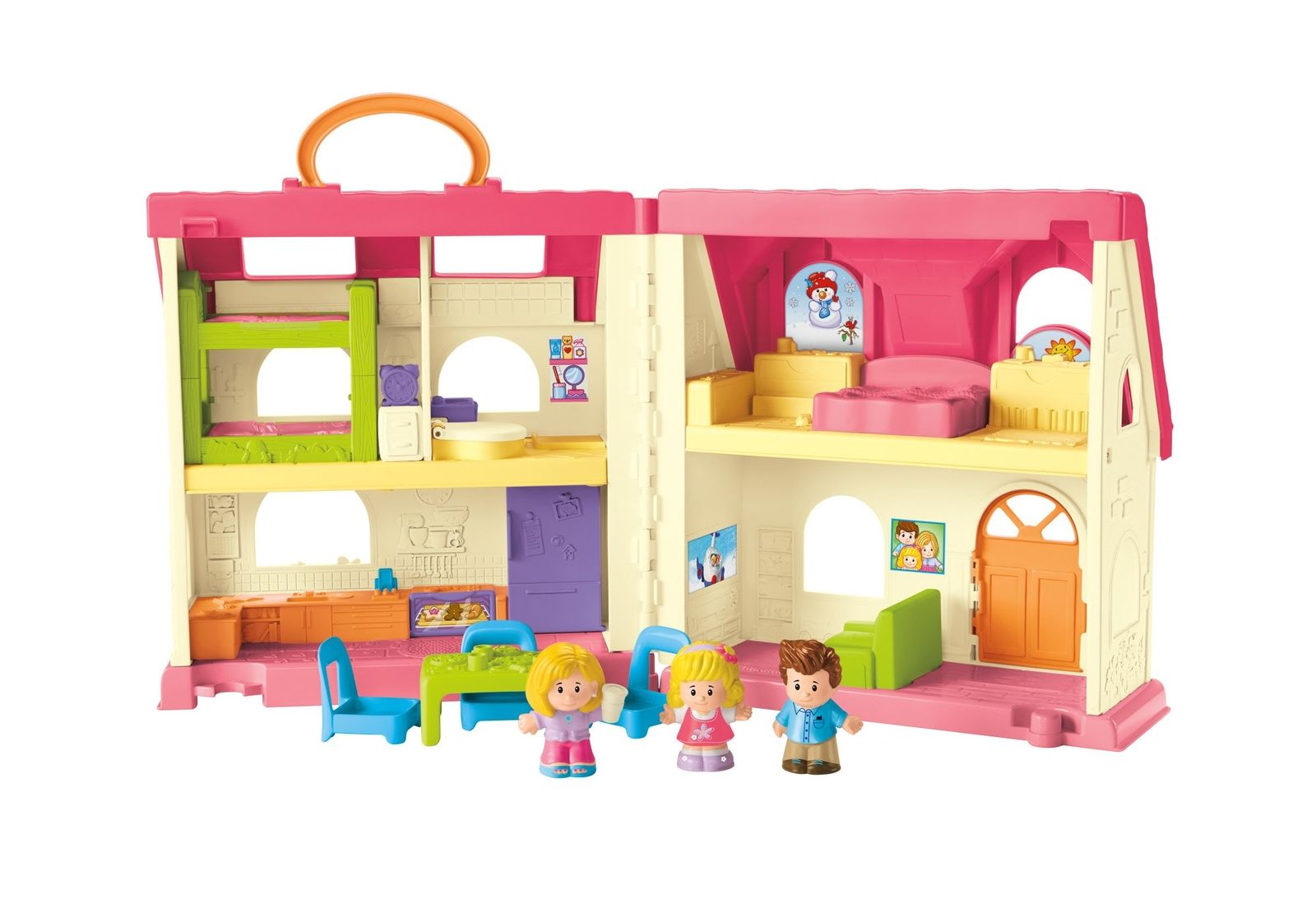 Super Toys Fisher Price Little People Doll House Surprise Sounds
