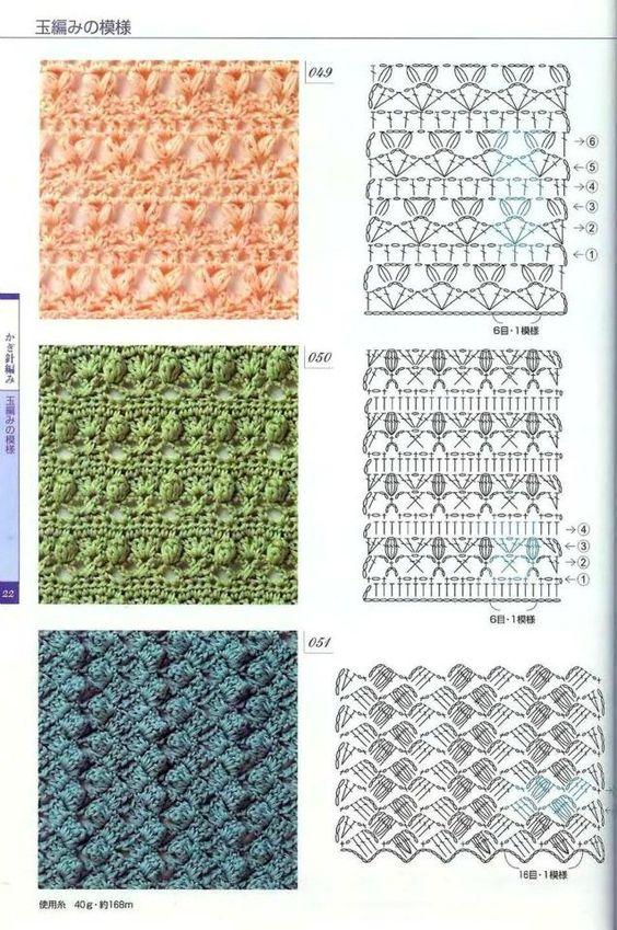 46 Patrones, Punto Puff en crochet (Puff Stitcho Crochet)