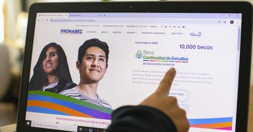 PRONABEC: Se amplió hasta 17 de julio postulación a concurso Beca Continuidad de Estudios - www.pronabec.gob.pe