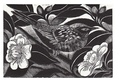Dunnock in the Camellia by Cathryn Kuhfeld
