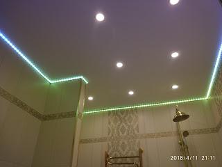 Натяжные потолки ванная комната фото Лабинск