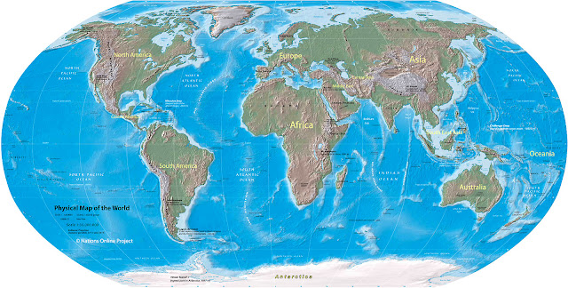 large World Map PDF