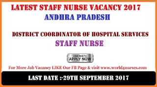 Latest Staff Nurse Vacancy 2017 in Andhra Pradesh