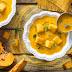 Polenta Valsugana: Vellutata di Zucca e Porro con Cubetti di Polenta