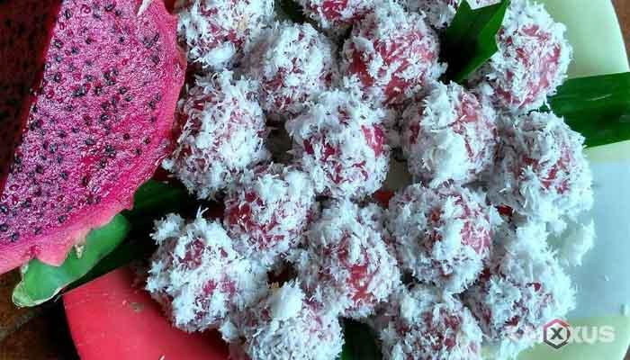 Resep cara membuat klepon buah naga