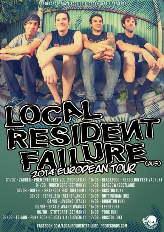 <center>Local Resident Failure announce european tour</center>