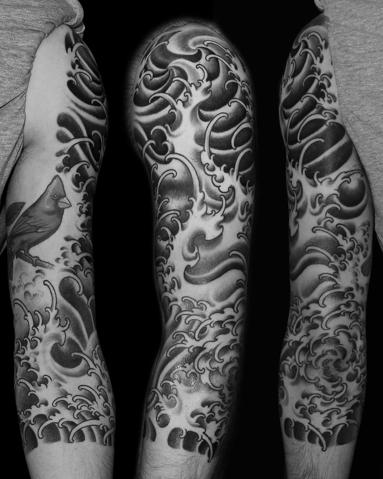 Black And White Sleeve Tattoo Designs For Men: Lukacsarts Tattoo: April 2013