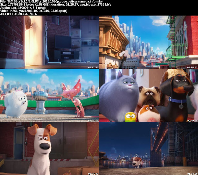 Descargar The Secret Life of Pets Subtitulado por MEGA.