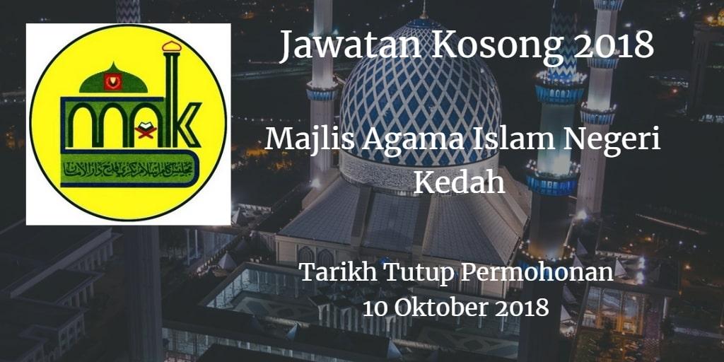 Jawatan Kosong MAIK 10 Oktober 2018