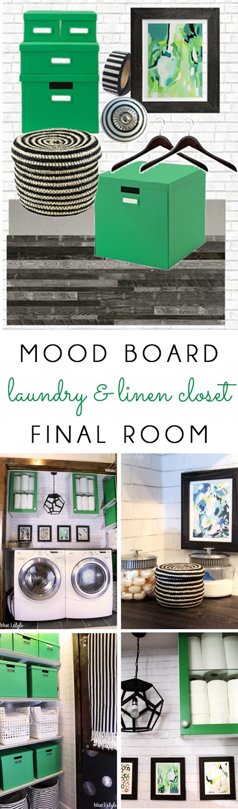 Laundry and linen closet mood board and photos